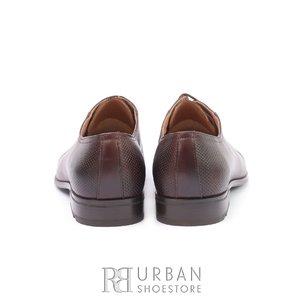 Pantofi eleganti barbati din piele naturala,Leofex - 743 * Maro Box