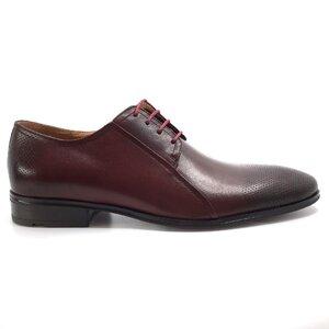 Pantofi eleganti barbati din piele naturala,Leofex-743* Visiniu Box