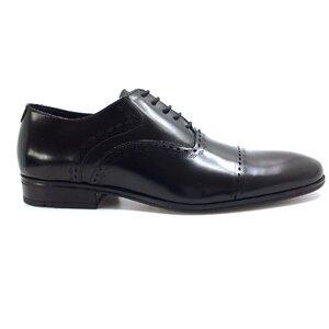 Pantofi eleganti barbati din piele naturala, Leofex - 748  Negru florantic