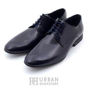 Pantofi eleganti barbati din piele naturala,Leofex - 822 blue florantic