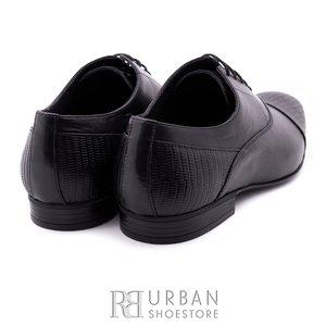 Pantofi eleganti barbati din piele naturala,Leofex - 834 negru box