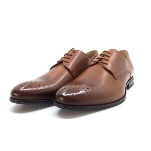 Pantofi eleganti barbati din piele naturala, Leofex - 898-1 Cognac box