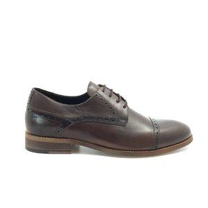 Pantofi eleganti barbati din piele naturala, Leofex - Mostra 41 maro