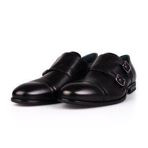Pantofi eleganti cu 2 catarame Leofex - 933-1 Negru