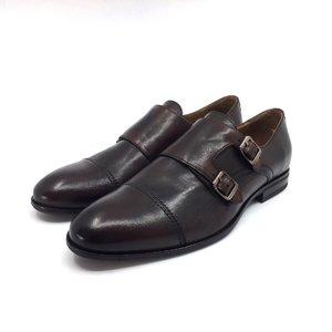 Pantofi eleganti cu 2 catarame Leofex - 933 Maro Inchis