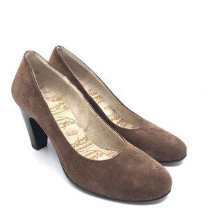 Pantofi eleganti dama din piele naturala – 006 Maro velur