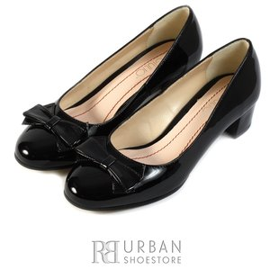 Pantofi eleganti dama din piele naturala  - 0265-13 negru lac