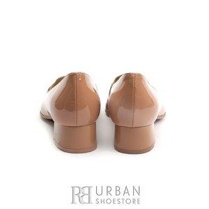 Pantofi eleganti dama din piele naturala -  0291-3 Capuccino Lac