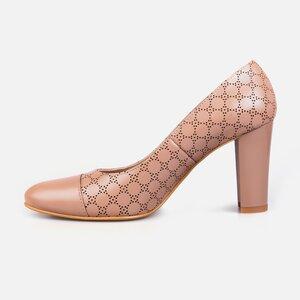 Pantofi  eleganti dama din piele naturala - 171 Cappuccino box