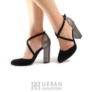 Pantofi eleganti dama din piele naturala- 1842 Negru Sah