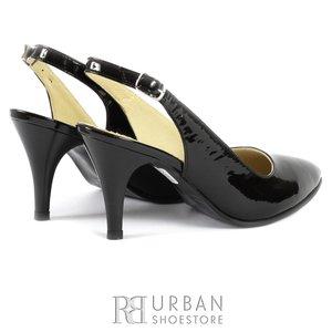 Pantofi eleganti din lac - 702 negru