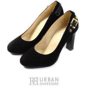 Pantofi eleganti din piele intoarsa - 1036-1 negru