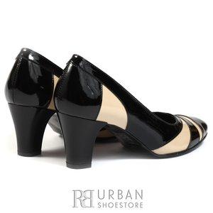 Pantofi eleganti din piele lacuita -18 negru