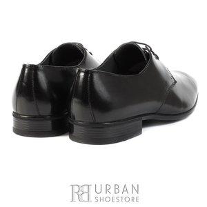 Pantofi eleganti din piele naturala - 112-2 negru lac