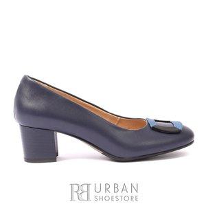 Pantofi casual din piele naturala - 1463 blue box