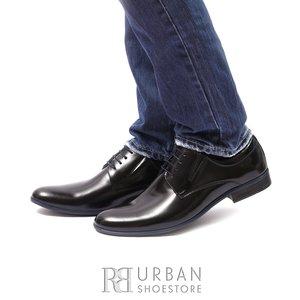 Pantofi eleganti din piele naturala - 4303 negru lac