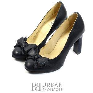 Pantofi eleganti din piele naturala - 516 blue