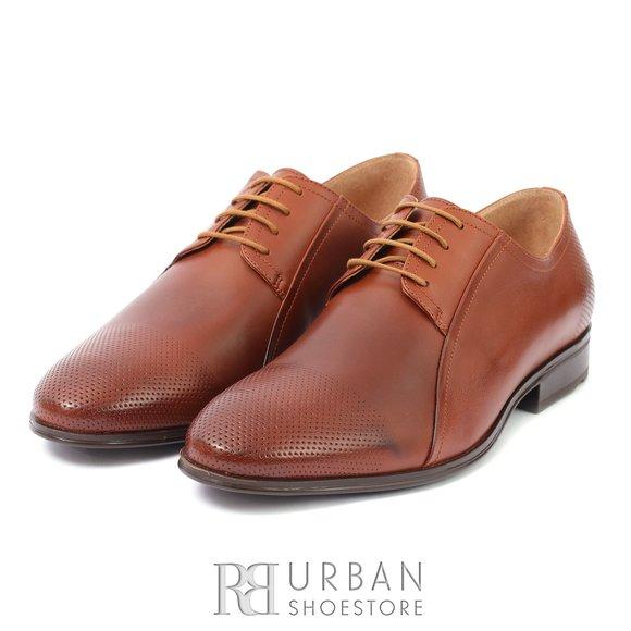 Pantofi eleganti din piele naturala - 743* Cognac Box