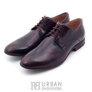 Pantofi eleganti din piele naturala - 822 visiniu lac
