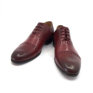 Pantofi eleganti din piele naturala - 890 Visiniu