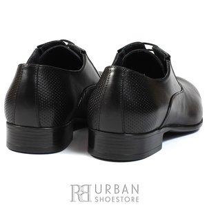 Pantofi eleganti din piele naturala box - 744 negru