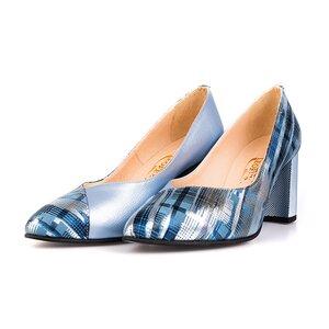 Pantofi eleganti din piele naturala Leofex- 854 Azur