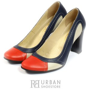 Pantofi office din piele naturala Leofex- 555 multicolor