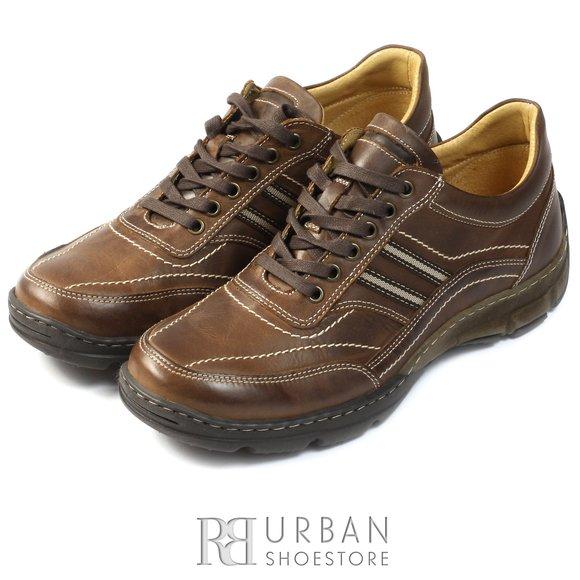 Pantofi sport-casual din piele naturala - 131 maro