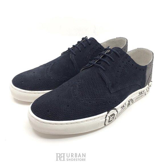 Pantofi sport-casual din piele naturala - 975 Blue Velur