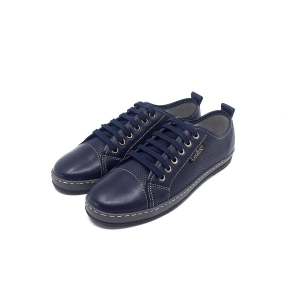 Pantofi sport dama din piele naturala, Leofex- 047 Blue box