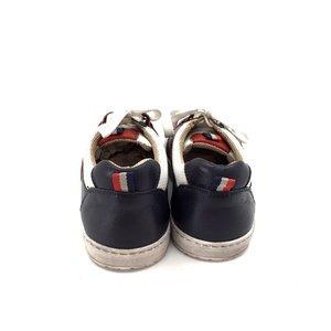 Pantofi sport din piele naturala - Mostra Julien Alb cu Bleu si Rosu
