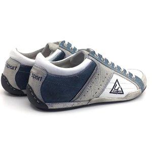 Pantofi sport din piele naturala, piele intoarsa - 641 alb cu blue si jeans