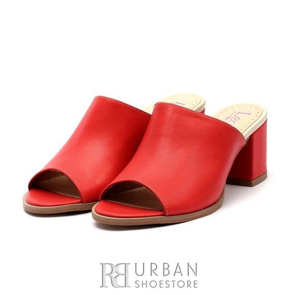 Saboti dama din piele naturala - 226 - B1- Rosu Box