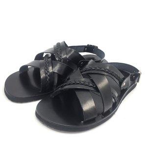 Sandale barbati din piele naturala - 034 C negru