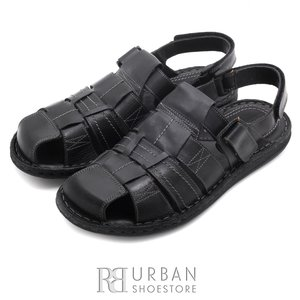 Sandale barbati din piele naturala - 141 negru