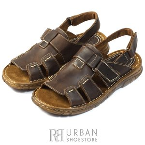 Sandale barbati din piele naturala - 323 maro