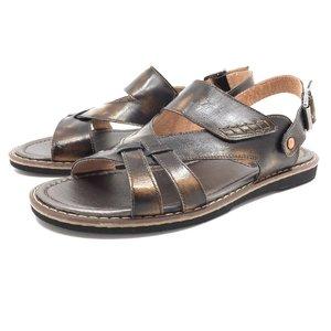 Sandale barbati din piele naturala, Leofex - 949 maro