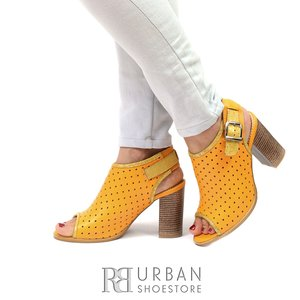 Sandale casual din piele natura - 033 Galben