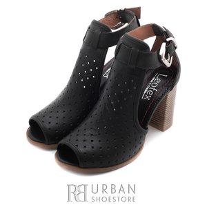 Sandale casual  din piele naturala - 010 negru