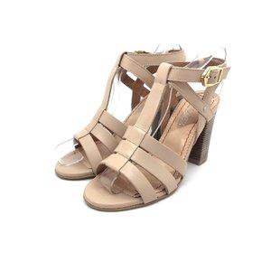 Sandale casual din piele naturala - 035 bej deschis