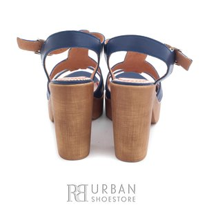 Sandale casual din piele naturala - 041 blug