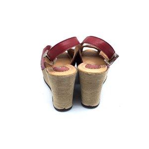 Sandale casual din piele naturala Leofex- 336 Visiniu