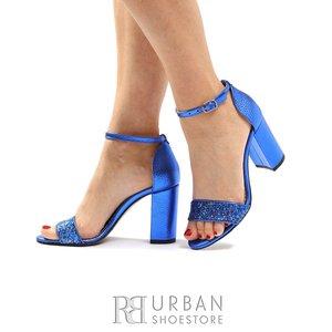Sandale cu bareta din piele naturala- 1061-12 Albastru
