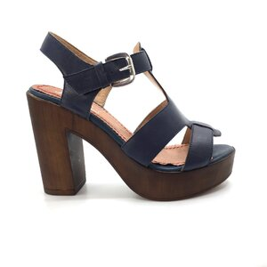 Sandale cu toc dama din piele naturala, Leofex - 041 blue box