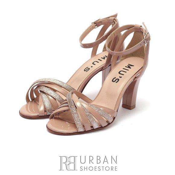 Sandale dama din piele naturala lacuita- 937/2 Nude