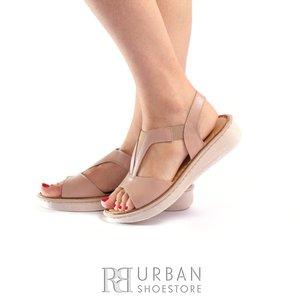 Sandale dama din piele naturala Leofex- 215 Taupe Box