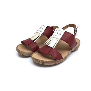 Sandale dama din piele naturala Leofex- Mostra Franjuri