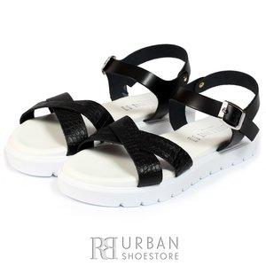 Sandale de piele box Bellini negru