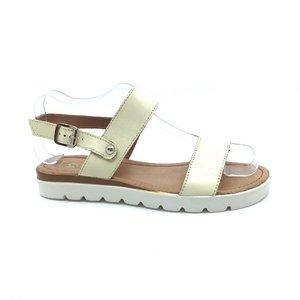 Sandale de piele naturala 043 crem box