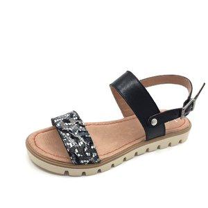 Sandale de piele naturala 043 Zebra Negru Box